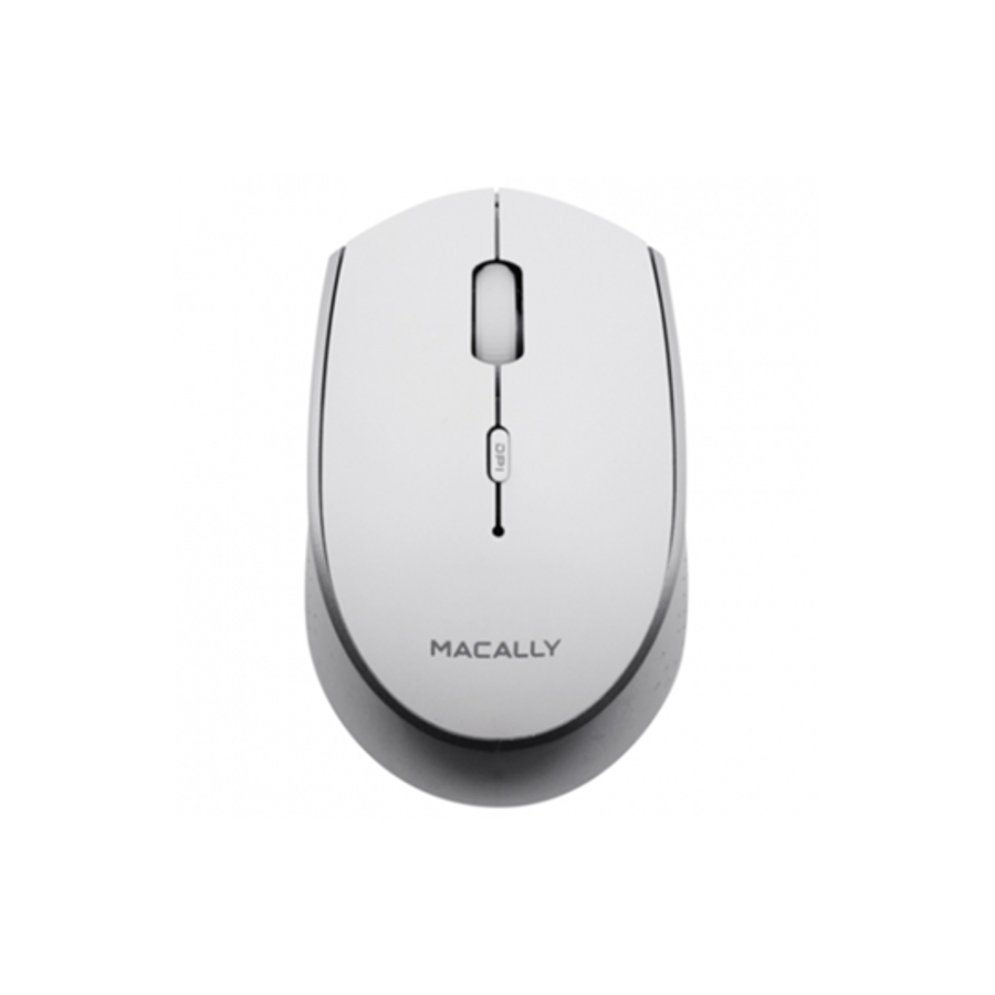 MacAlly Oplaadbare Draadloze Bluetooth Muis (Wit)