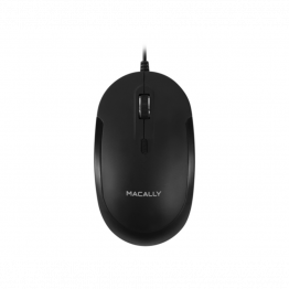 MacAlly USB Optical Mouse (Zwart)