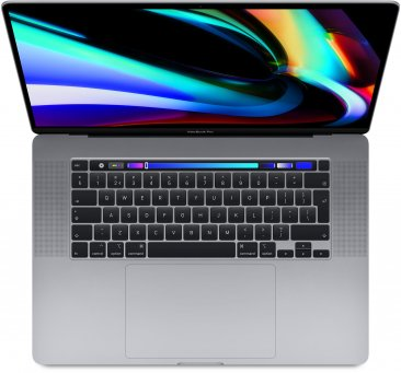 16-inch MacBook Pro: 2,6‑GHz 6‑core i7-processor - 512 GB SSD - 16 GB RAM - AMD Radeon Pro 5300M - Spacegrijs